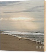 Early Morning By The Shore  Wood Print