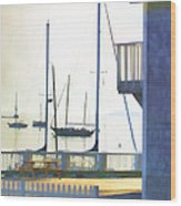 Early Morning Camden Harbor Maine Wood Print