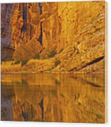Early Morning Canyon Reflection Wood Print