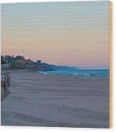 Early Morning Deserted Beach Wood Print