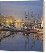 Early Morning Harbor Wood Print