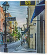Early Morning In French Quarter Nola Wood Print