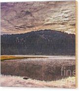 Early Morning Lake Light Wood Print by Robert Bales
