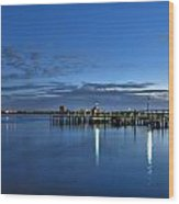 Early Morning Manatee River Wood Print