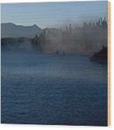 Early Morning Mist On A Lake Wood Print