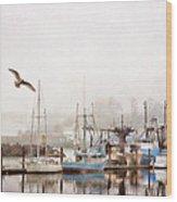 Early Morning Newport Oregon Wood Print