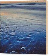 Early Morning On A Sea Coast Wood Print