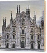 Early Morning On Il Duomo Wood Print