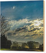 Early Morning On The Road Again Wood Print