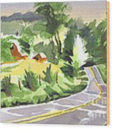 Early Morning Out Route Jj Wood Print