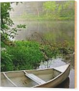 Early Morning Paddle Wood Print by Jody Partin