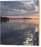 Early Morning Reflections - Lake Ontario And Downtown Toronto Skyline  Wood Print