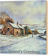 Early Morning Snow Christmas Cards Wood Print by Andrew Read