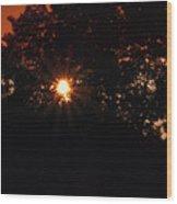 Early Morning Sun Burst Wood Print