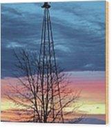 Early Prairie Light Wood Print