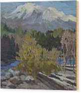 Early Snow Cascade Mountains Wood Print