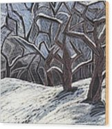 Early Snow Wood Print by Grace Keown