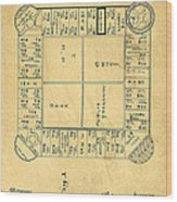 Early Version Of Monopoly Board Game Patent Wood Print
