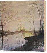 Early Winter Riverside Wood Print