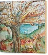 Early Winter Tree Wood Print