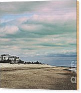 Early Morning Townsends Inlet  Cape May Wood Print