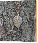 Earring In A Tree Wood Print