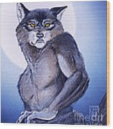 Ears Of The Werewolf Wood Print