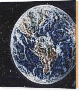 Earth Beauty Original Acrylic Painting Wood Print
