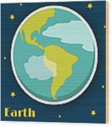 Earth Wood Print by Christy Beckwith