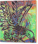 Earth Eagle Wood Print