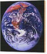 Earth From Space Centered On East Africa Wood Print