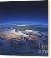 Earth - Mediterranean Countries Wood Print by Johan Swanepoel