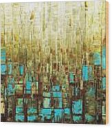 Abstract Geometric Mid Century Modern Art Wood Print