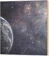 Earth Planet Wood Print
