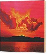 Earth Sunset Wood Print