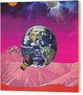 Earth To Mars Wood Print