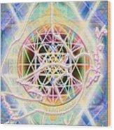 Earth Water Spirit Madonna Peace Matrix Wood Print
