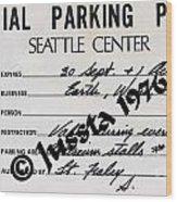 Earth Wind Fire Seattle Parking Permit Wood Print