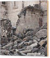 Earthquake Damage From Bhuj, India Wood Print