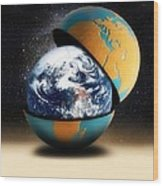 Earths Protective Cover Wood Print