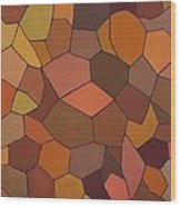 Earthy Angles Wood Print