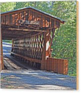 Easley Covered Bridge Wood Print