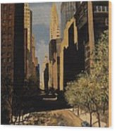 East 42nd Street Wood Print