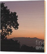 East Africa Sunrise Wood Print