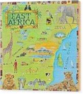 East Africa Wood Print