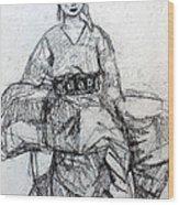 East Asian Woman Wood Print