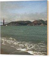 East Beach And Golden Gate Wood Print