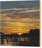East Coast Sunset Wood Print