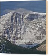 1m3743-east Face Mt. Kitchener With Cloud Wood Print