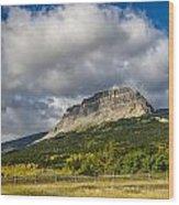 East Flattop Mountain Wood Print